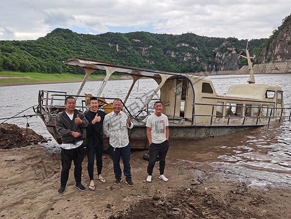 通化靖宇县某水库进行沉船打捞