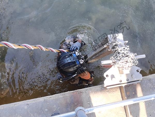 2021.2.17污水处理厂推流器地脚固定和维修